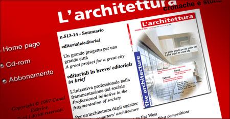 L'architettura cronaca e storia