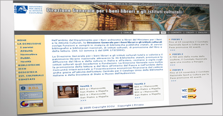 Direzione Generale per i Beni Librari e gli Istituti Culturali