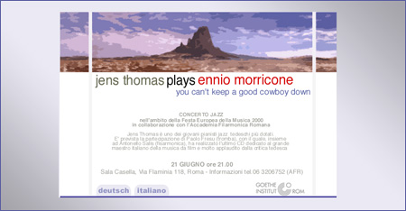 Jens Thomas plays Ennio Morricone
