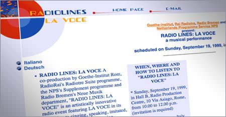 Radiolines - La voce