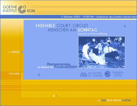 Ensemble Court-Circuit / Menchen am Sonntag